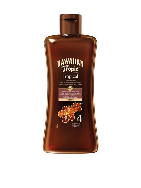 Hawaiian Tropic Tanning Oil Rich 200 ml Solprodukter Hvid - herre