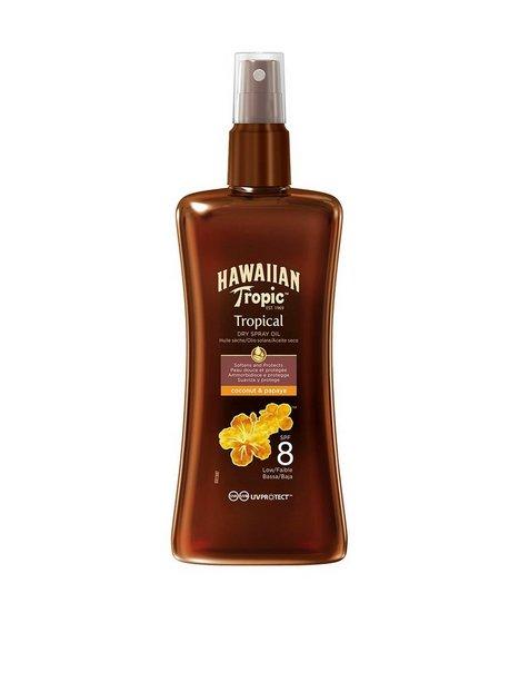 Hawaiian Tropic Protective Dry Spray Oil SPF 8 200 ml Solprodukter Hvid mand køb billigt