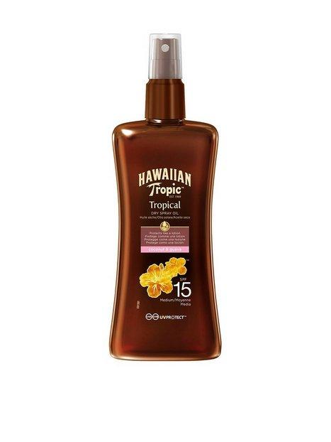 Hawaiian Tropic Protective Dry Spray Oil SPF 15 200 ml Solprodukter Hvid mand køb billigt