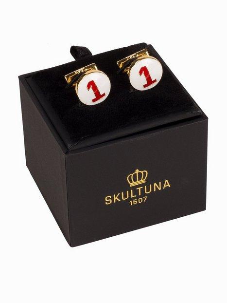 Skultuna Cuff Links The Racer Gold Manchetknapper Hvid rød mænd køb billigt