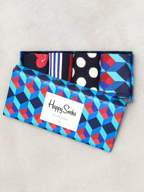 Happy Socks Nautical Gift Box Strømper Blue - herre