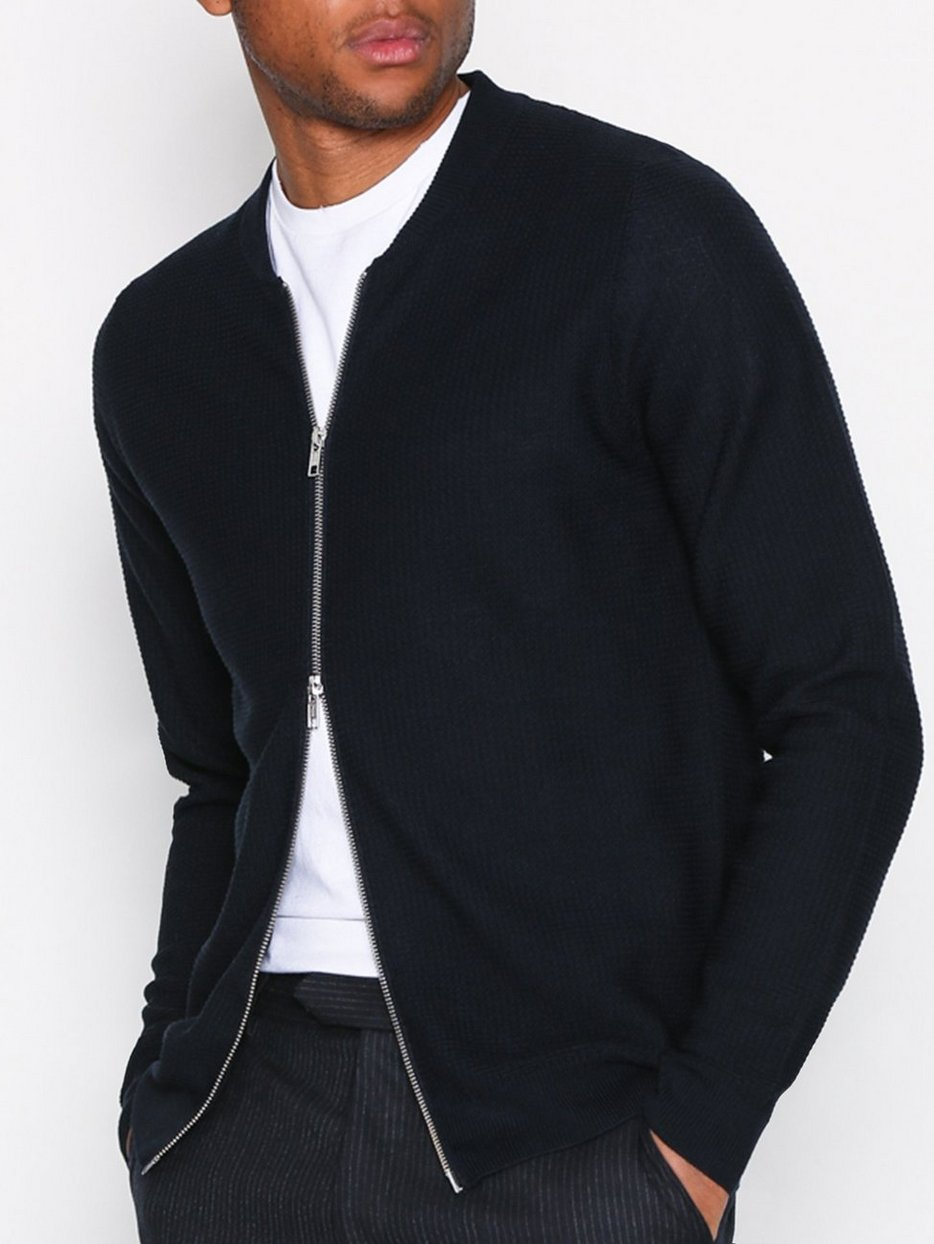 Jake Full Zip 6214 - Nn.07 - Navy Blue - Jumpers & Cardigans ...