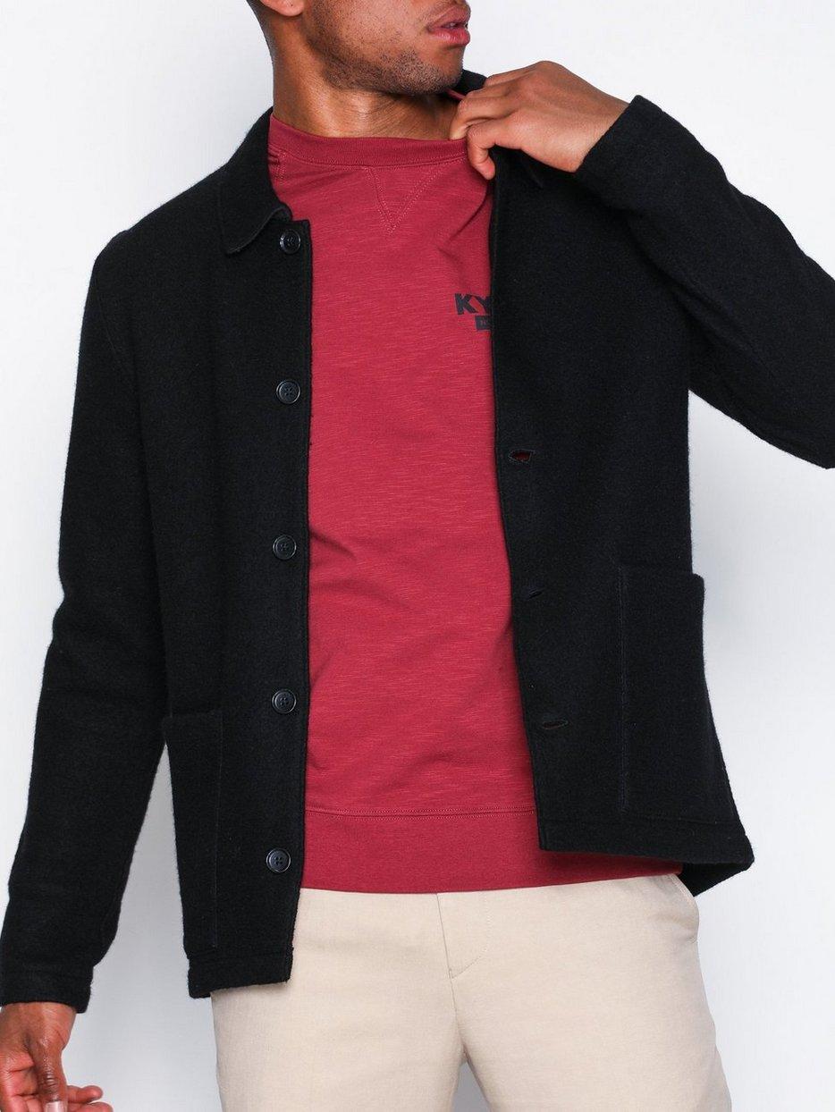 Boiled Wool Jacket 6189 Nn07 Black Jackets Clothing Men