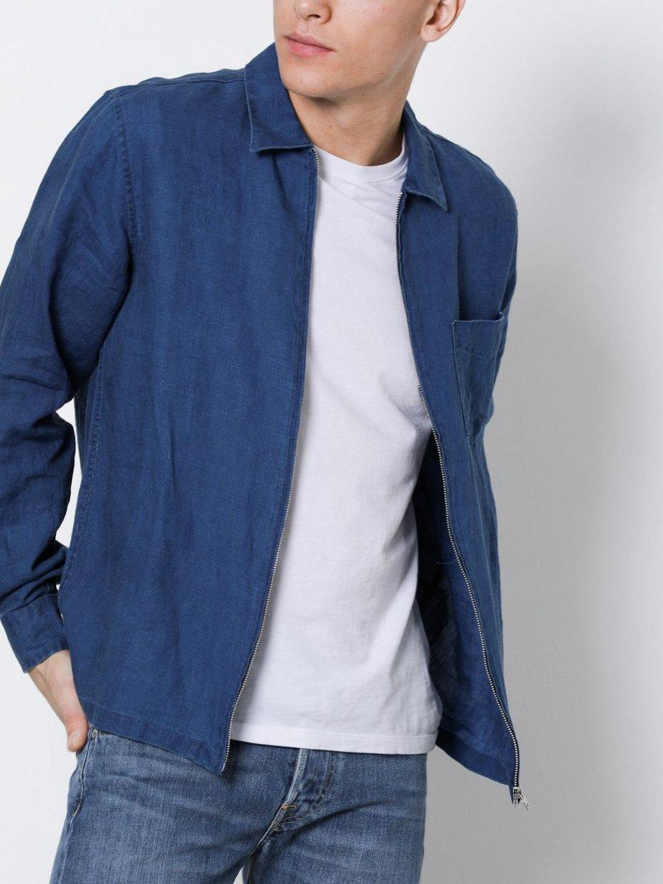 Standard Indigo Zipp Shirt