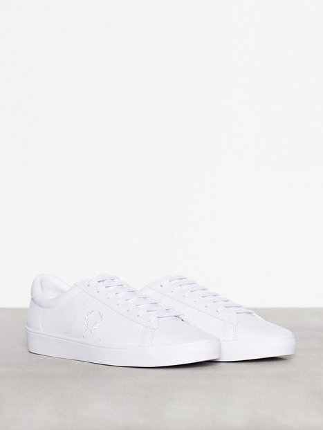Fred Perry Spencer Leather Sneakers tekstilsko White - herre