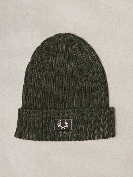 Fred Perry 2 Tone Cotton Beanie Huer Hunting Green mænd køb billigt