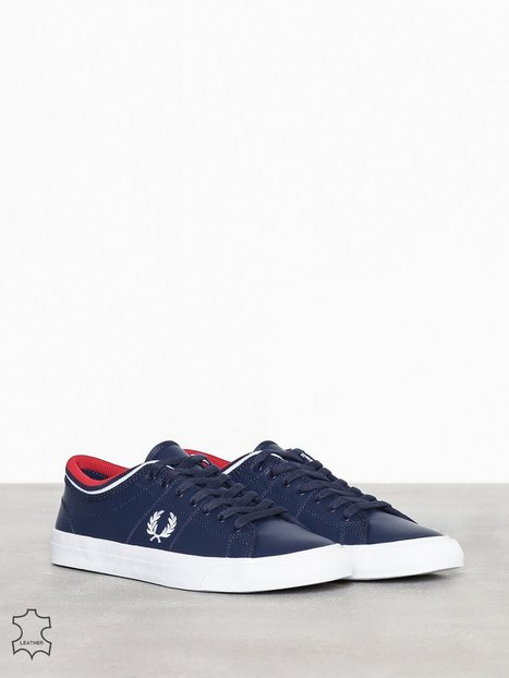 Fred Perry Kendrick Tipped Cuff LTH Sneakers Carbon Blue mand køb billigt