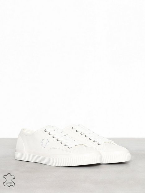 Fred Perry Hughes Leather Sneakers Ecru - herre