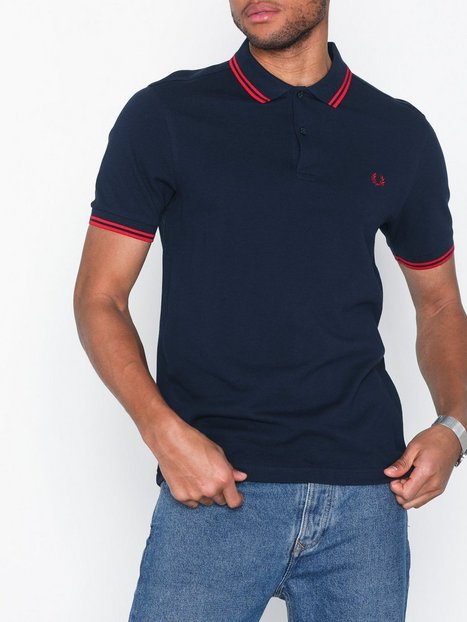 Fred Perry Twin Tipped Fp Shirt Polotrøjer Blue mand køb billigt
