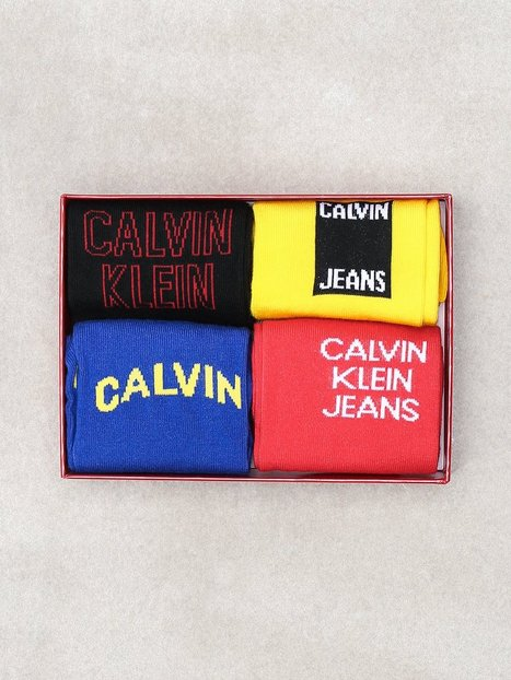 Calvin Klein Underwear Elroy Cotton Rich Giftbox Strømper Multicolor - herre