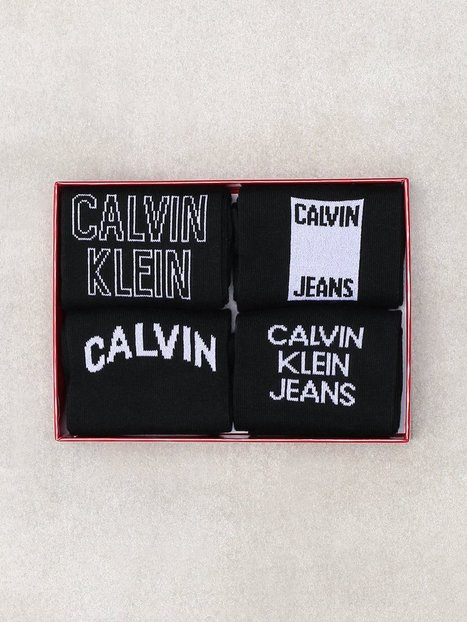Calvin Klein Underwear Elroy Cotton Rich Giftbox Strømper Black - herre