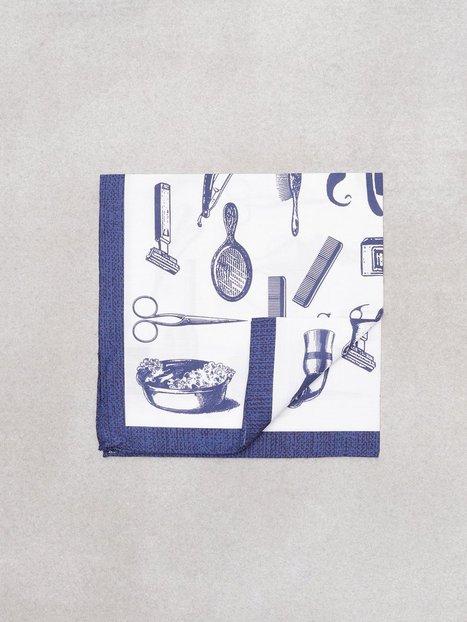 Amanda Christensen Printed Pocket Lommetørklæder Navy mand køb