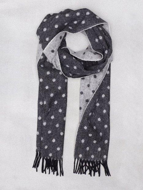 Amanda Christensen Woven Double Face Halstørklæder scarves Black mand køb billigt