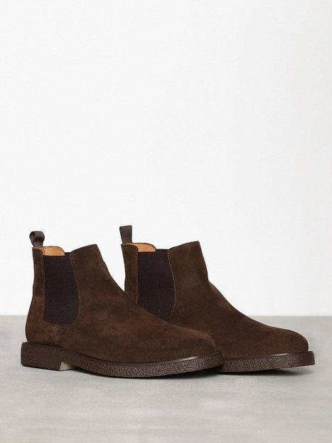 Playboy Original Suede Chelsea boots Brown mand køb billigt