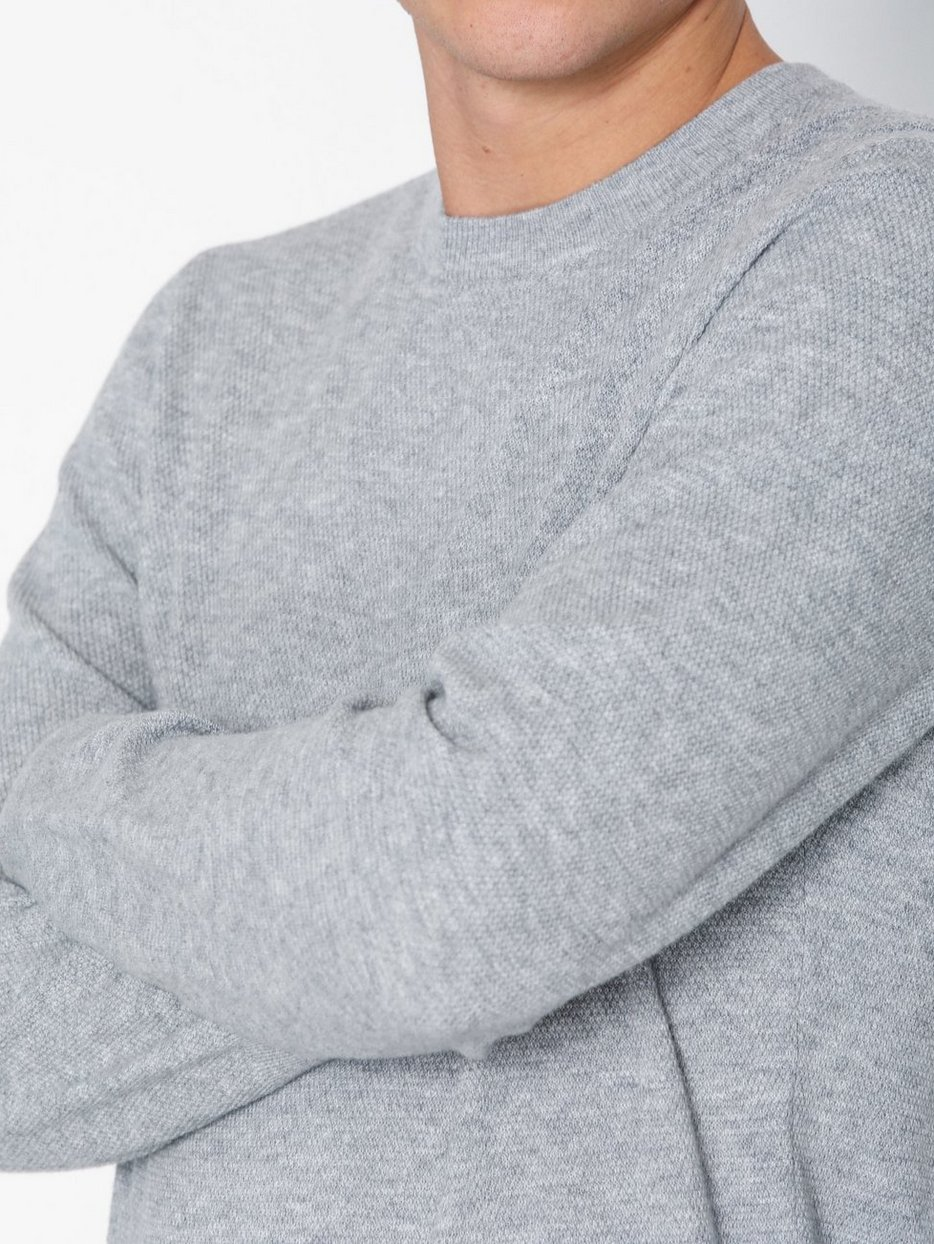 M. Moss Knit R-Neck Sweater