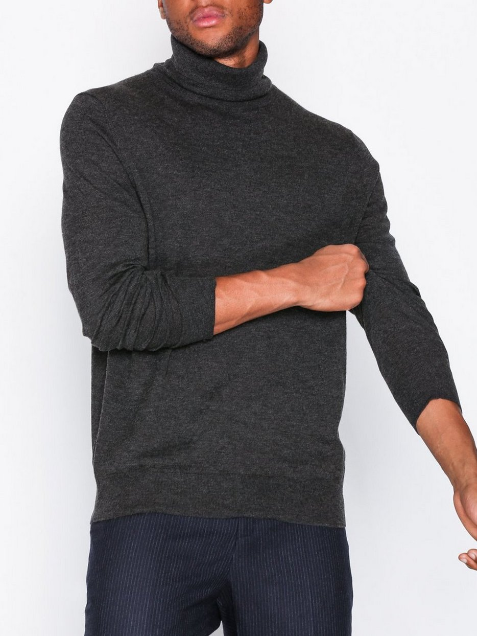M. Silk Mix Rollerneck Sweater