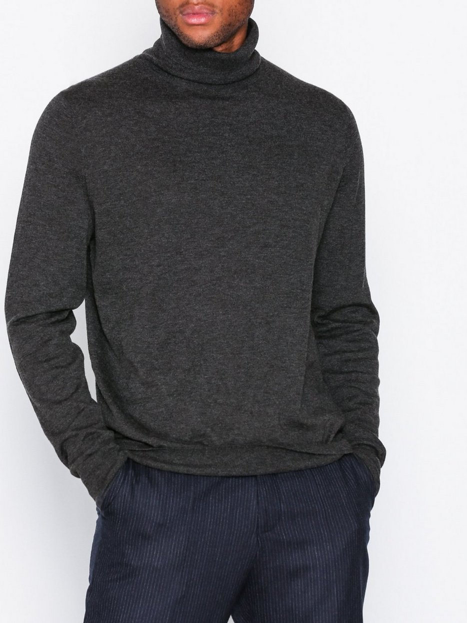 M. Silk Mix Rollerneck Sweater