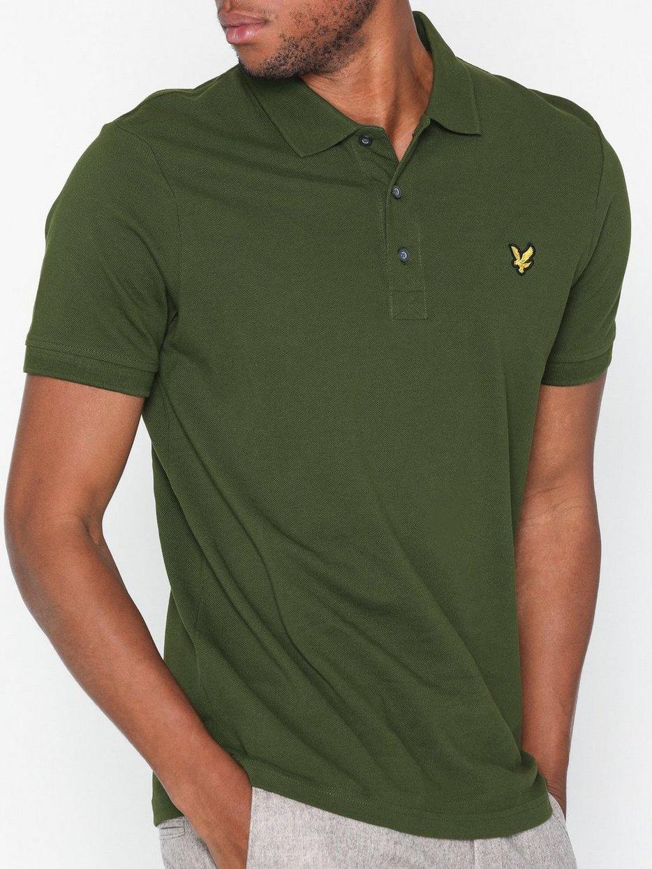 Plain Polo Shirt Lyle Scott Green Polo Shirts Clothing