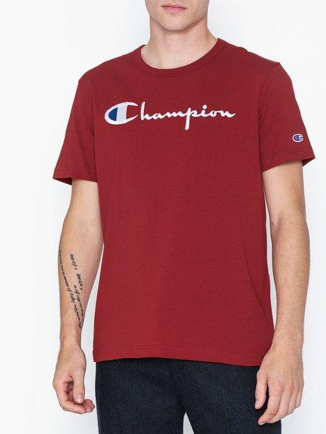 Champion Crewneck T Shirt T shirts undertrøjer Red mand køb billigt