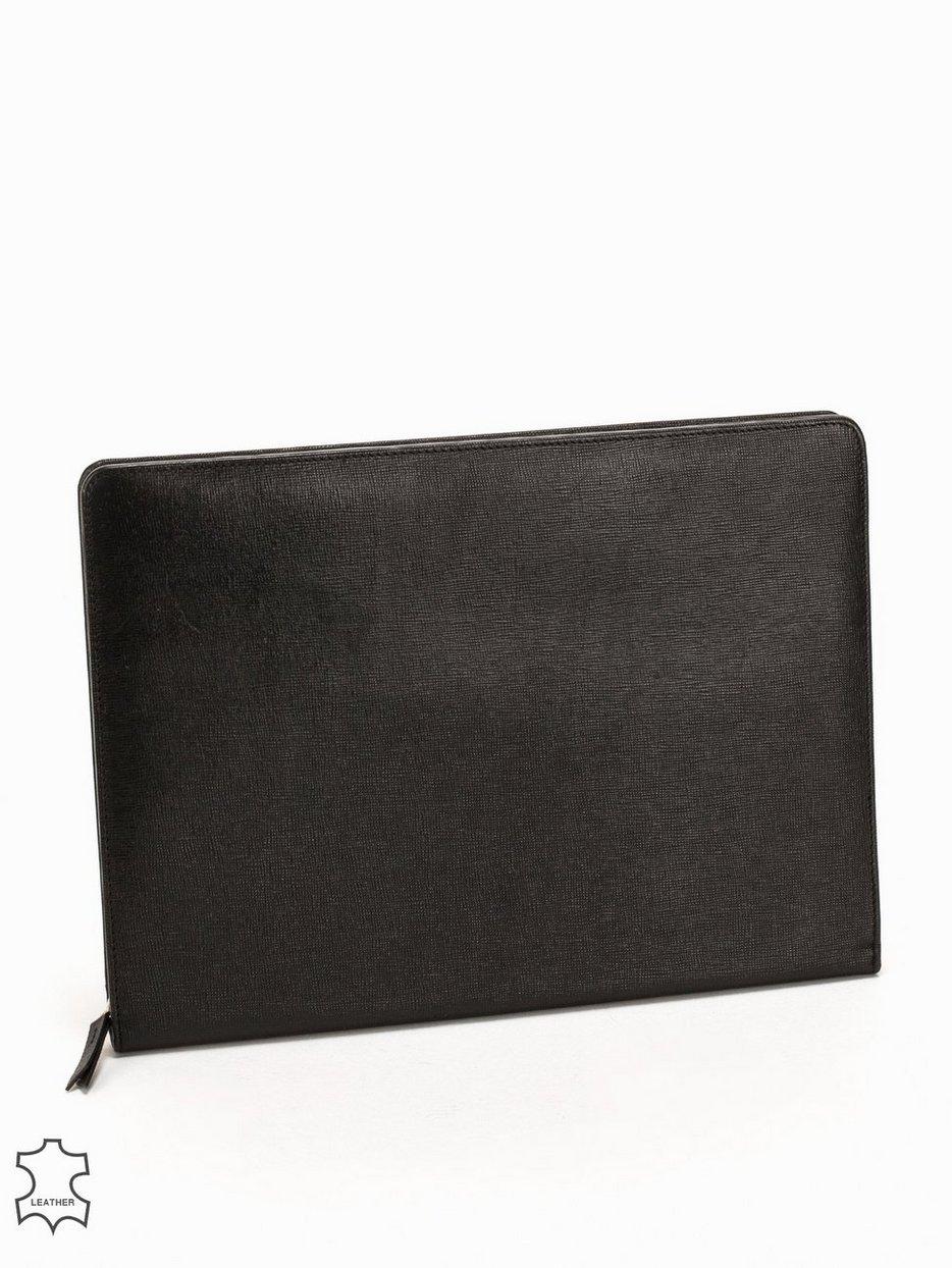 Laukut Miehille : Zip folder leather baron black laukut asusteet