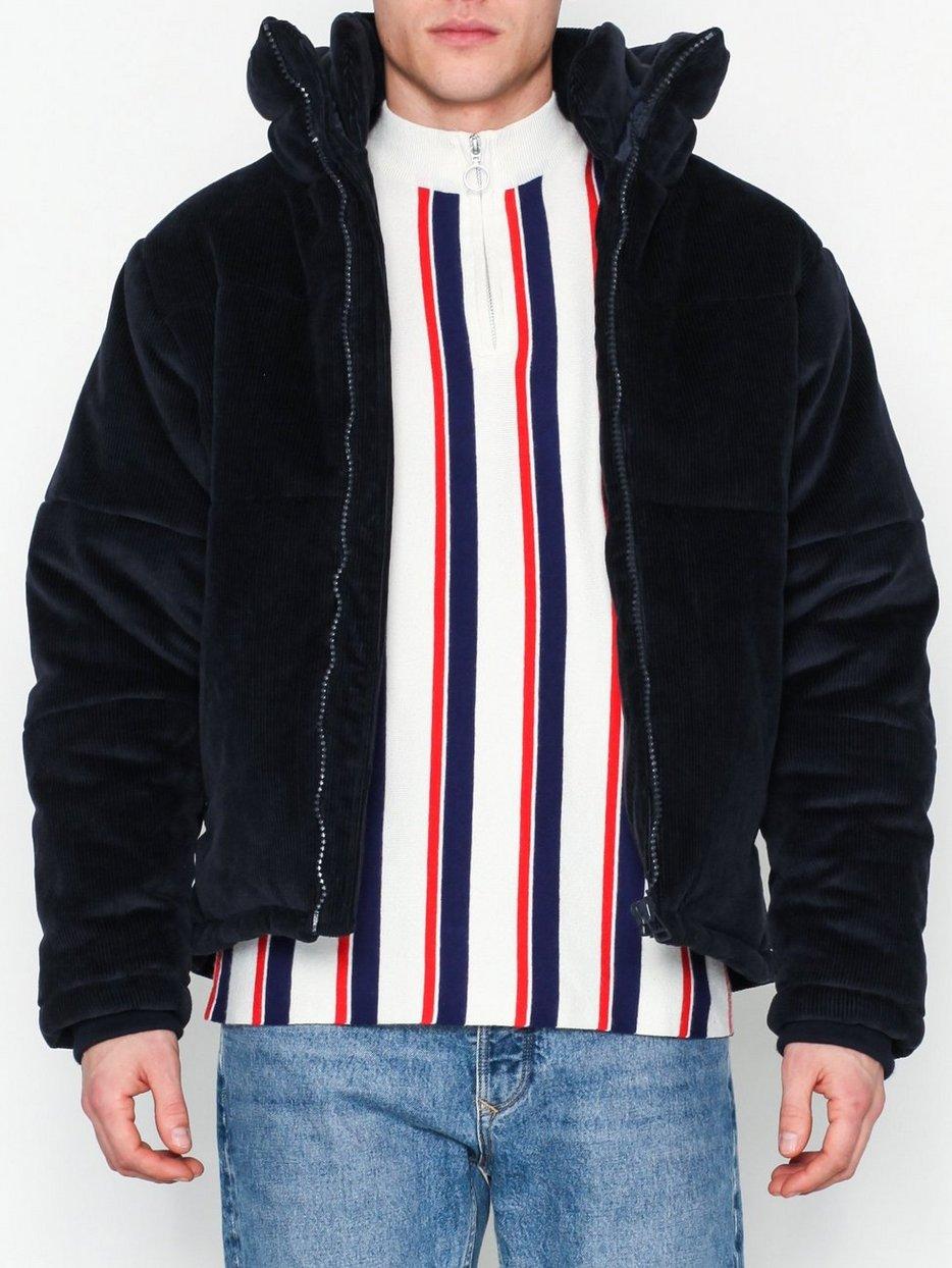 Köp Topman Navy Corduroy Puffer Jacket | Jackor - NLYMAN.COM