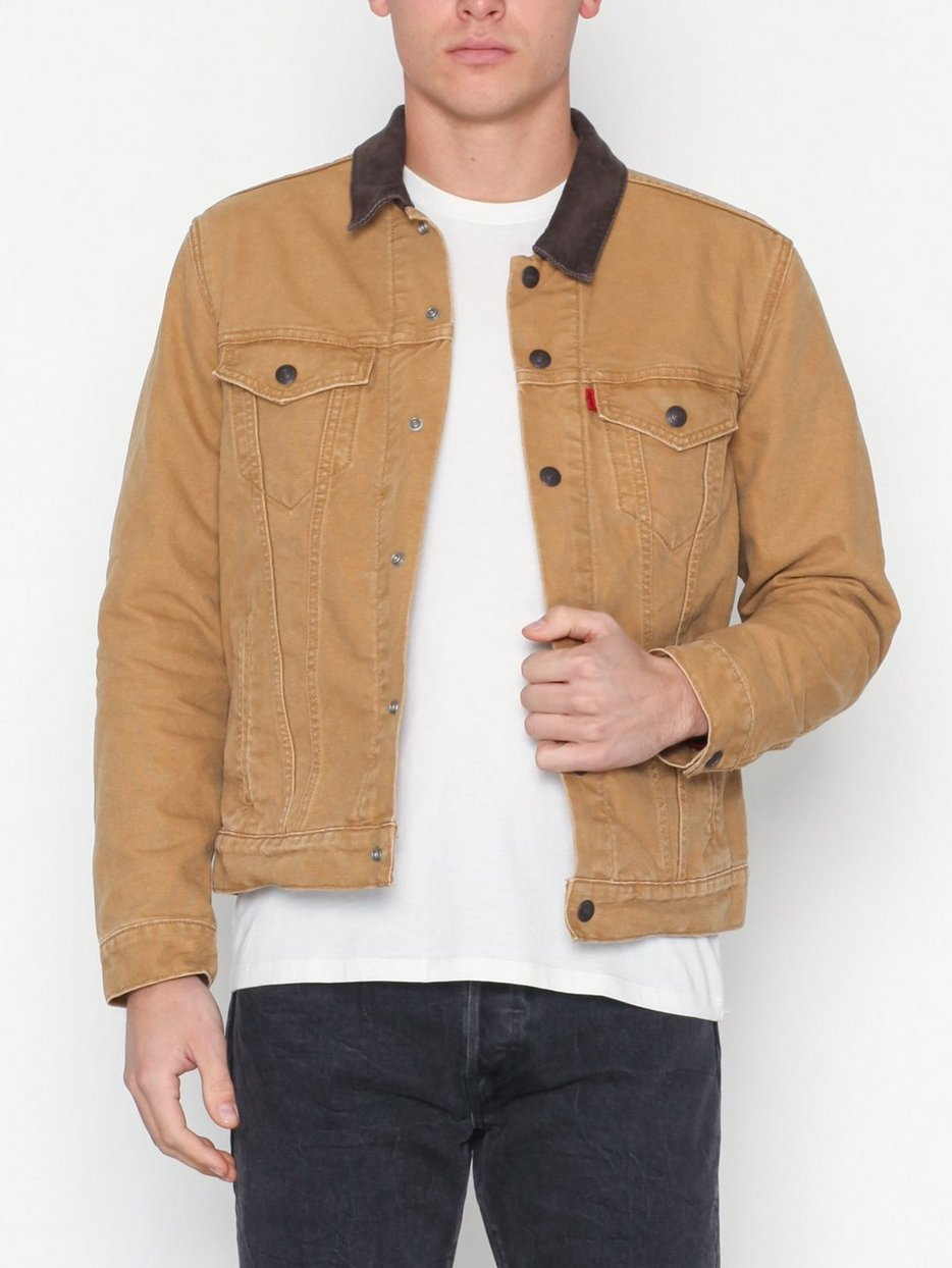 J Timberlake Lined Trucker Jacket Dijon